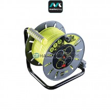 Masterplug Open Reel With 30M Green Wire, 4 Socket 13Amps