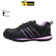 House SOFIA Female Safety Shoe (Black & Purple)