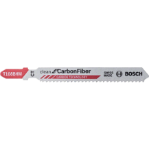Bosch T108BHM Clean for Carbon Fibre Jigsaw Blades 2608667449 (Pack of 3)