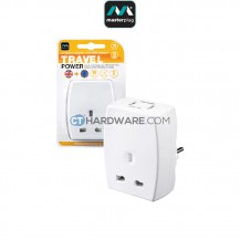 Masterplug Travel Adaptor With USB Charger(Europe)13Amps