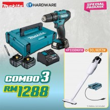 MAKITA SPECIAL COMBO PACKAGE OFFER - HOME KIT COMBO 3 [HP333DNX10 + DCL182FZW]